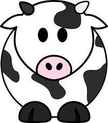 dibujo de una vaca. Intolerancia a la lactosa