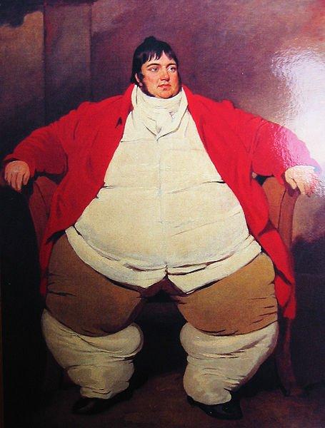 ¿EL tiroides engorda? Retrato de Daniel Lambert por Benjamin Marshall (1768–1835)