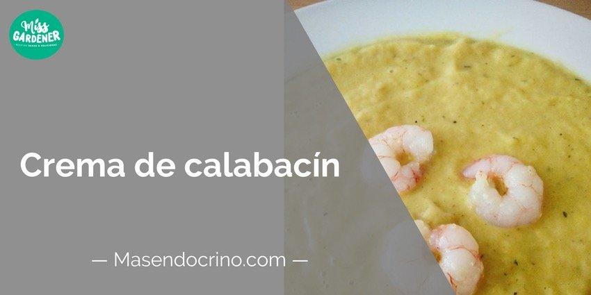 Crema de Calabacín