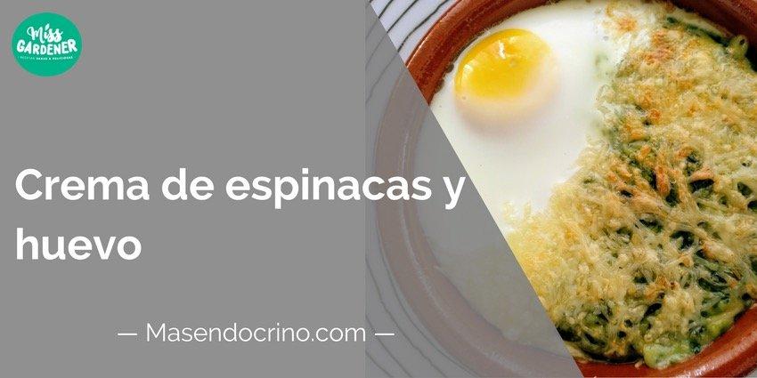 Crema De Espinacas Y Huevo
