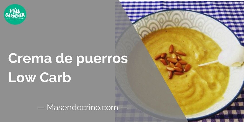 Crema De Puerros Low Carb
