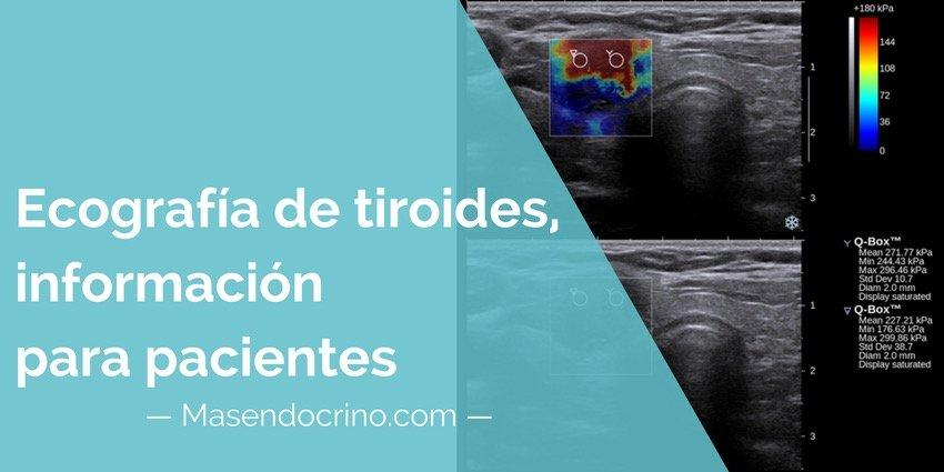Ecografía de tiroides, resumen para pacientes