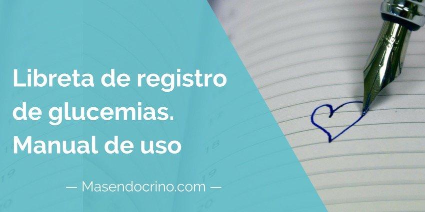 Libreta De Registro De Glucemia Capilar