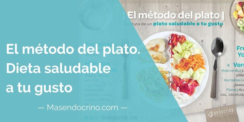 Método del Plato: Crea una dieta saludable a tu gusto